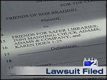 lawsuit filed against citizen group to prevent free speech.  credit: katu 2 news