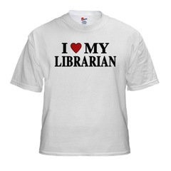 i love my librarian teeshirt.